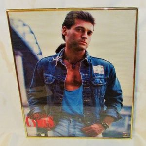 Vintage 1992 Billy Ray Cyrus Framed Poster
